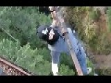 Dangerous Trestle Stunt In Victoria B.C. Caught On GoP