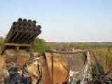 Destroyed Ukrainian Self-propelled Multiple Rocket Launcher System Designed In The Soviet Union BM-27 Uragan