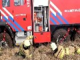 Dutch 'Hoge Veluwe' Nature Reserve Fire, Firemen Extinguishing Their Own Truck
