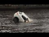 Dramatic Rescue Of Mother And Child From Sinking Car In Amsterdam