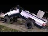 DODGE RAM DIESEL PULL TRUCK BENDS IN HALF -LOUD-