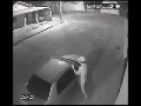 Drunk Guy Kicking, Kissing And Having Sex With A CAR!
