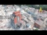 Drone Footage Of Destruction Left Behind By 6.2 Quake