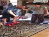 Dad Falls Off Hoverboard On Christmas Morning