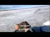 Drunk Russian Walrus Ice Fishing