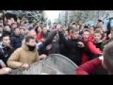 Degradation Of Ukraine. Pupils Thrown Director Of Their School In Trash Can