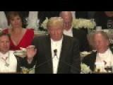 Donald Trump Roasts Hillary Clinton At Al Smith Charity Dinner
