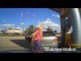 Dumb Blonde Gets Some Gas