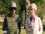 Defense Minister Von Der Leyen Visits Peshmerga Training In Bavaria