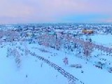 Drone Footage Shows Denver Area After Blizzard
