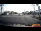 DANGEROUS ACCIDENT, Hard Hitting Motorcycle Accident In Russia