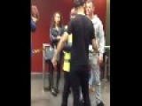Drunk Dude Gets Knocked Out In McDonald's