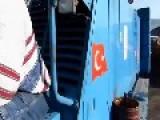 Dramatic Crash Footage- Ferry Crashes Onto Shore In Turkey