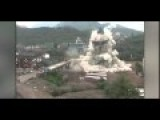 Demolition Squad Blow Up A Bridge And A Tower At The Same Time In China