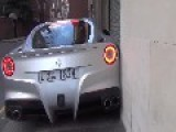 Dummy Backs His New Ferrari Into A Concrete Wall