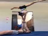 Duo Shows Off Impressive Acro-Yoga Skills