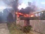 Donetsk's Northern Octyabrskiy District Burning After Multiple Russia Grad Missile Hits