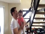 Dancing Daddies Enjoy A Silly Moment With Their Babies