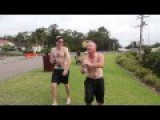 Drunk Aussie Bogan Backflips Off Bridge