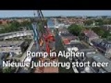 Dutch JulianaBridge Intallment Goes Bad, Two Cranes And Bridge Crash
