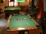 Dog Pops Out After Billiards Trick Shot