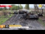 Drone Camera View Of Destroyed Armoured Column - NovoAzovsk