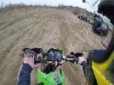 Dirt Biker Crashes Into ATV Rider