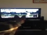 Dog Attacks TV For Baseball