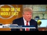 Donald Trump Leaves Journalists In Awe, Brilliantly Articulates On The Middle East Problem