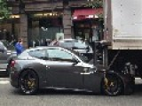 Delivery Truck Backs Up Onto $300k Ferrari