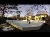 Dad Builds His Kids A Hockey Rink!!