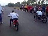 Drag Bike Yamaha Jupiter Vs. Honda Karisma