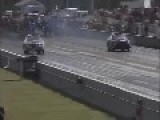 Drag Racing, Car Takes Off Like A Plane And Nearly Flys!