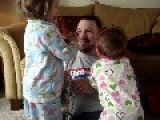 Dad's Lightning Fast Reflex Saves Daughter From Nasty Fall
