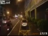 Dash Cam Of Street Exploding In Taiwan