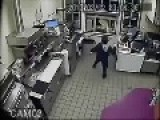 Dunkin' Donuts Employee Throws Hot Coffee On Robber