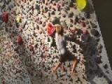 Duo Climb Up Rocks