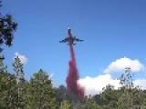 DC-10 Tanker Drop On Fire