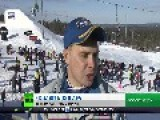 Dakar Rally Champion In Stunts At Snowboarding Event - RTSports - HD