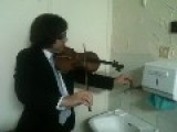 Duet Violin And Sound Of Tap Water