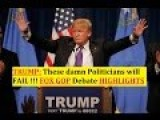 Donald Trump Highlights - Fox News GOP Debate Detroit, Michigan 3 3 2016 NEWS