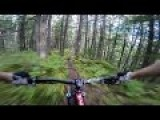 Downhill Mountain Bike Run With Stabilized POV