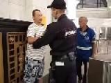 Drunk Vs. Cop, Moscow Metro