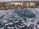 Drone Footage Shows Submerged Vehicles In Wisconsin's Lake Geneva