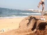 Double Backflip Fail At The Beach
