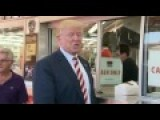 Donald Trump Stops For Some Cheesesteaks At Geno's 9 22 16