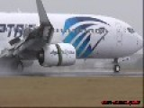 Egyptair Boeing 737 Reverse Thrust With Heavy Water Spray