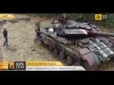 Eng Subs UA Troops Receive Old Tanks From Chernobyl Zone+ Just Cool Footage Of Tank Filmed From UAV