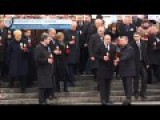 European Leaders Parade To Celebrate Kiev Revolution Year Ago