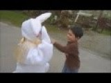 Easter Bunny Hugs From Concrete 2014